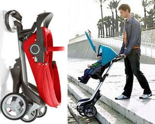 Folded Stokke Xplory Stroller