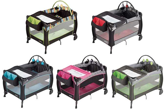 picture of recalled portable crib