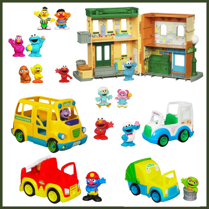 Playskool-Sesame-Street-Neighborhood-Playset-and-Figures