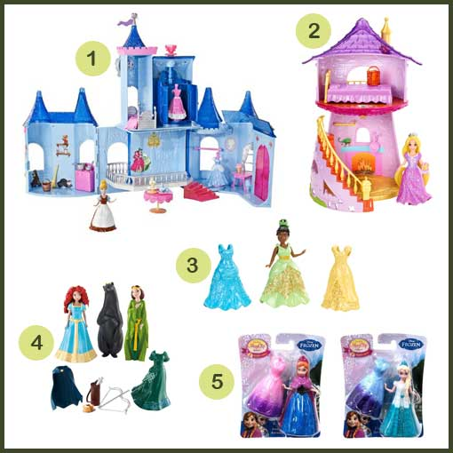 Disney-Princesses-MagiClip-Dolls-and-Playsets-by-Mattel