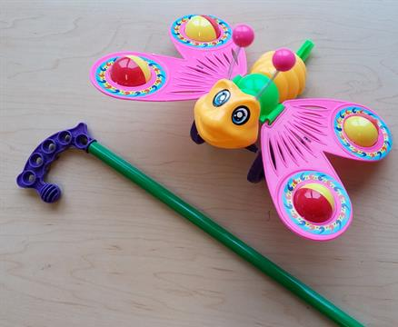 LSImport Butterfly Push Toy